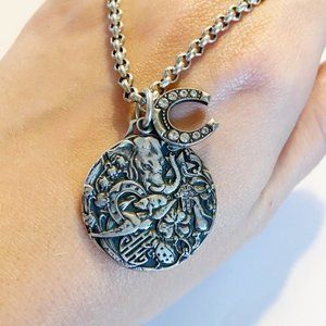 Catherine Popesco silver Good Luck Charm necklace